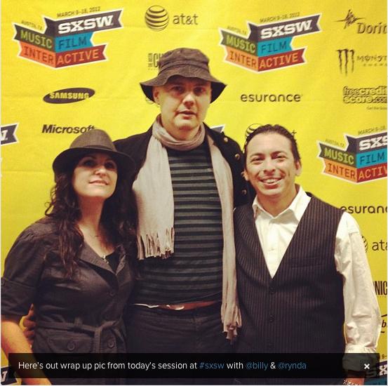 sxsw 2012 Rynda Laurel, Billy Corgan, Brian Solis