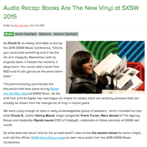 sxsw books audio blog post